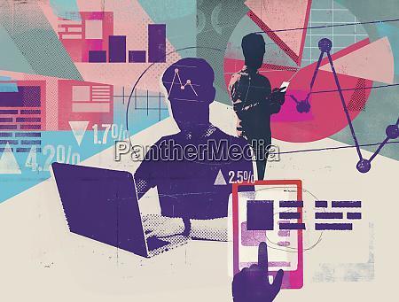computer programmer analysing website analytics