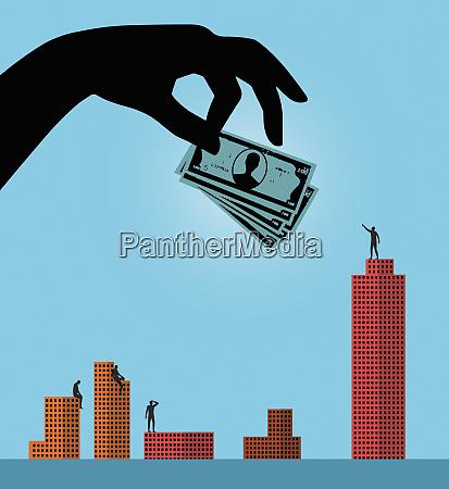 grosse hand gibt investitionen fuer den