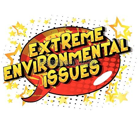 extreme umweltprobleme comic buch stil