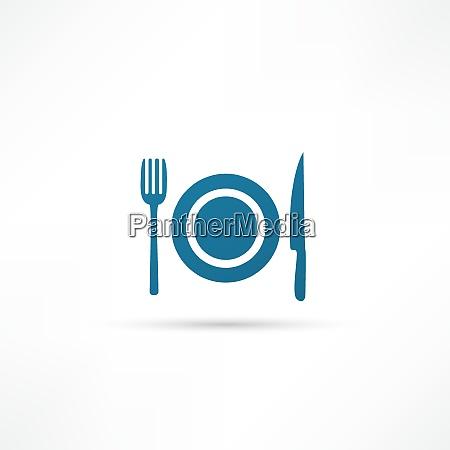 blaue platte symbol