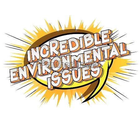 unglaubliche umweltprobleme comic buch stil