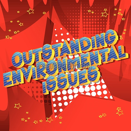 herausragende umweltfragen comic buch stil