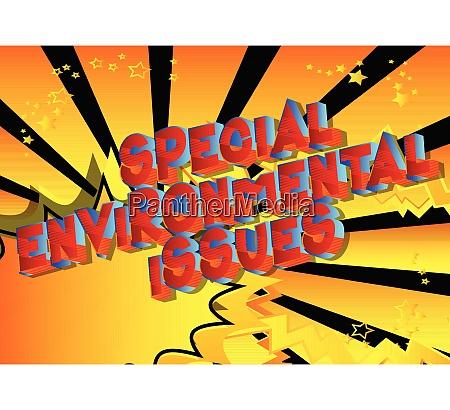 spezielle umweltfragen comic buch stil