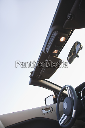 steering column and roof of convertible