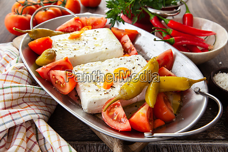 feta cheese with tomatoes