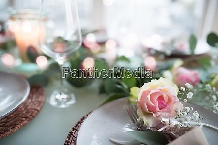romantic festive table decoration