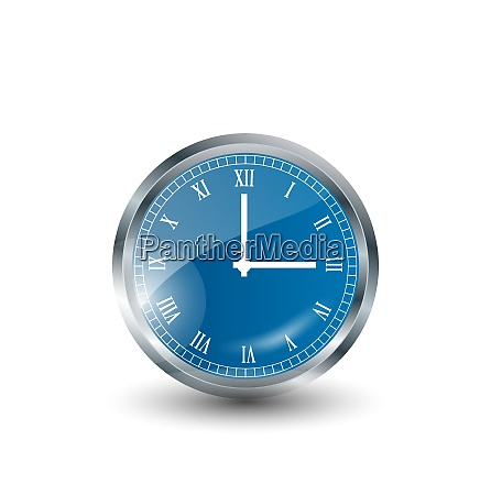 illustration realistic modern clock isolated on
