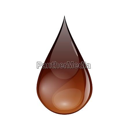 illustration schokolade oder kaffee troepfchen isoliert