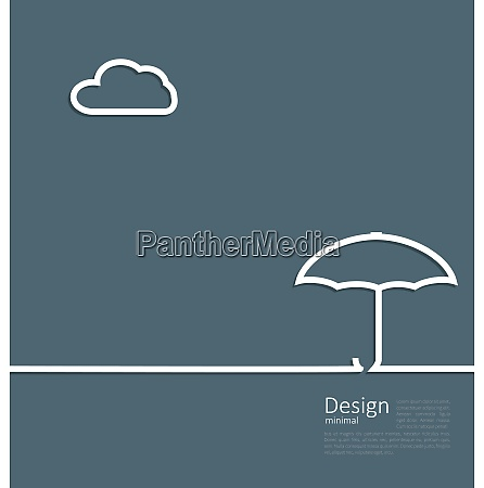 illustration umbrella protection it weather the