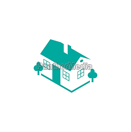 illustration abstract house real estate isolated