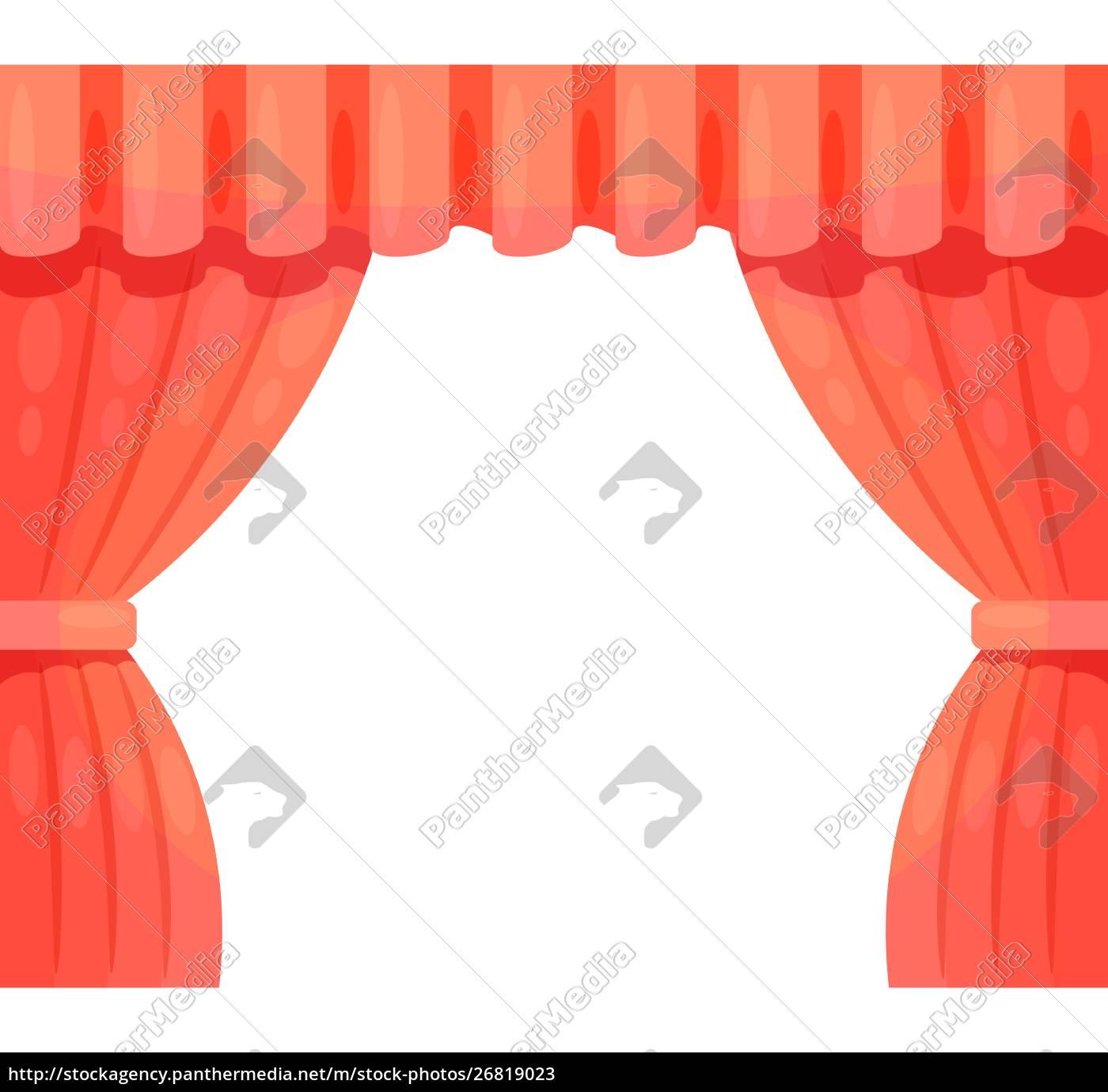 cartoon, theater., cartoon, theater, kulisya, on - 26819023