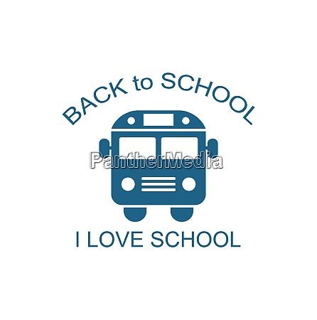 illustration school bus isolated on white