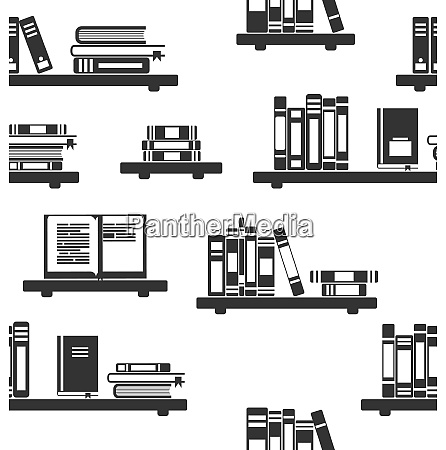 illustration seamless pattern with books on