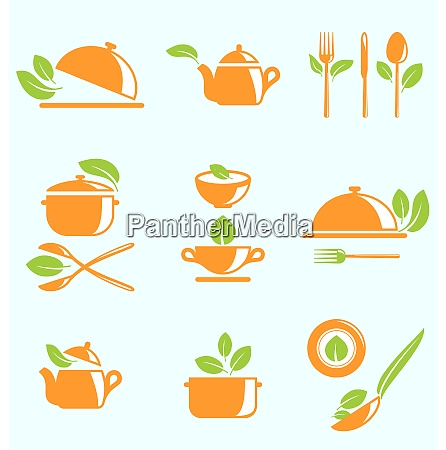 illustration collection of healthy eating vegetarian