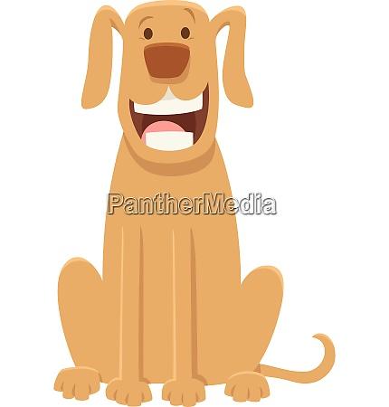 happy great dane dog cartoon character