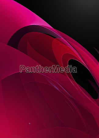 abstract red circular pattern against black