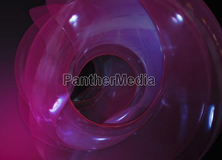 dreidimensionale durchsichtige abstrakte spirale