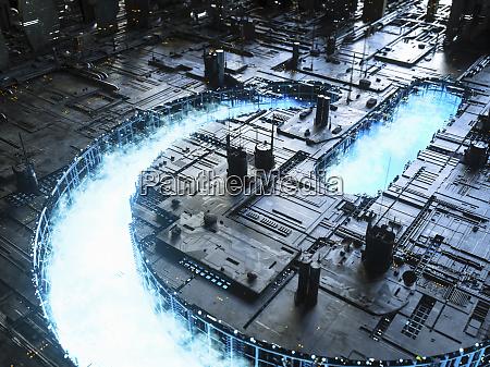 blue sky power button symbol leuchtet