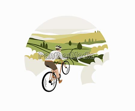 radfahrer mit dem fahrrad durch die