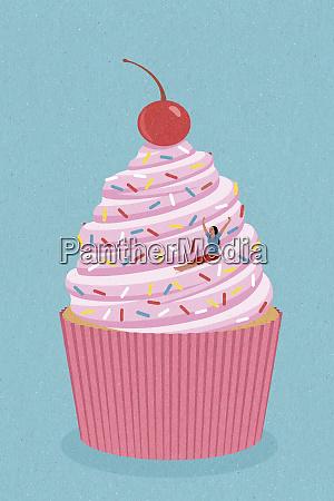 sorglose frau rutscht cupcake helter skelter