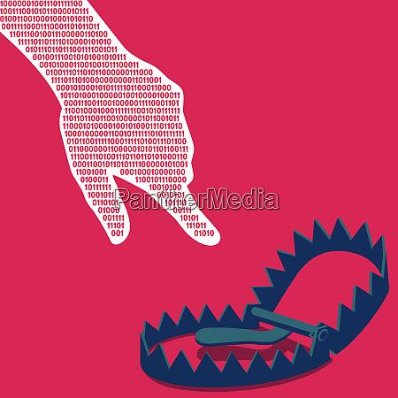 baerenfalle fangen binaere code hand