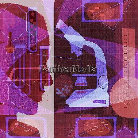 scientific research collage