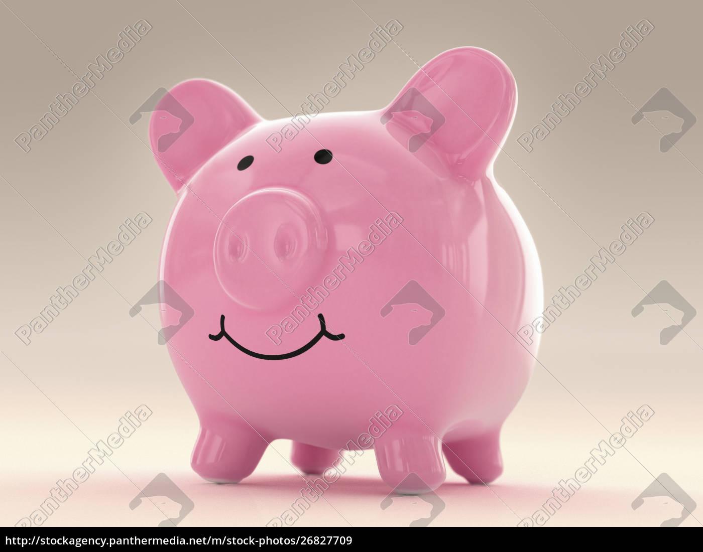 glückliches, fett, sparschwein - 26827709