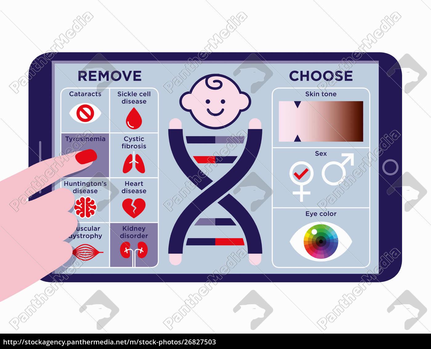 mobile, app, zur, auswahl, von, designer-baby-traits - 26827503