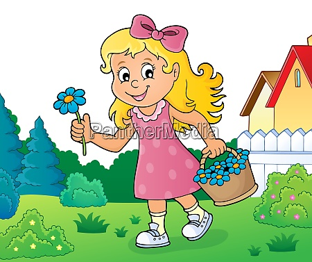 girl with flower theme image 3