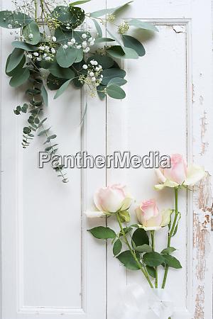 rosen dekoration im vintage stil