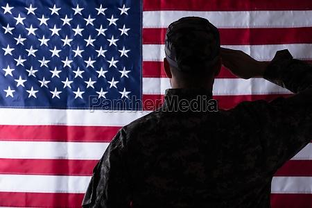 flagge amerikanisch veteran uns solider silhouette