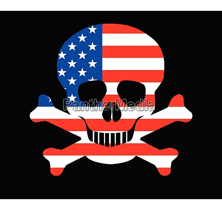 stars and stripes skull and crossbones