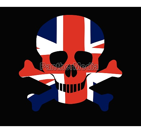 union jack skull and crossbones