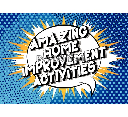 amazing home improvement activities comic