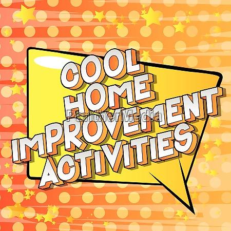 cool home improvement activities comic