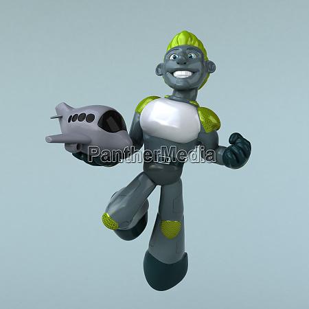 mexican hero 3d illustration