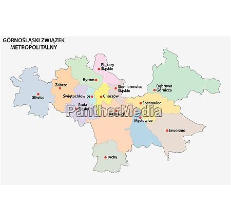 karte der metropolgesellschaft oberschlesien und des