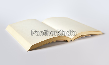 old open blank book isolated on