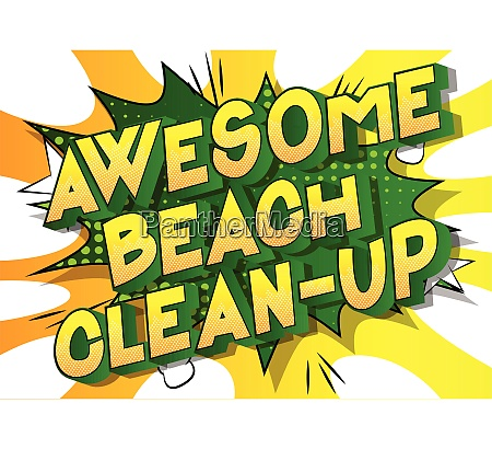 awesome beach clean up comic