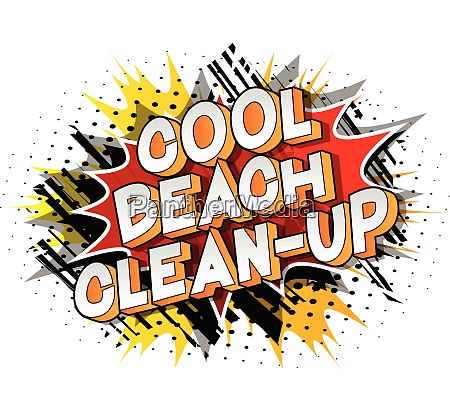cool beach clean up comic