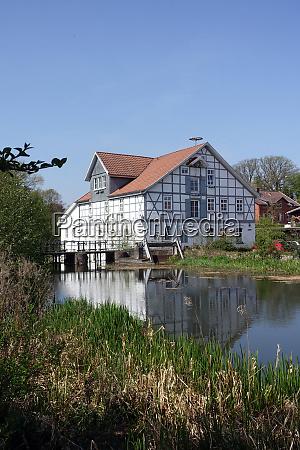 historic water mill oldenstadt