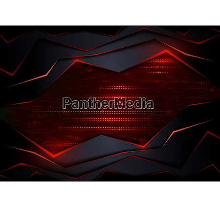 abstract tech background with red elements