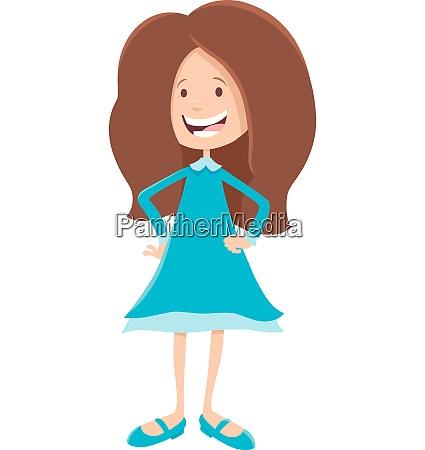 elementary or teen age girl cartoon