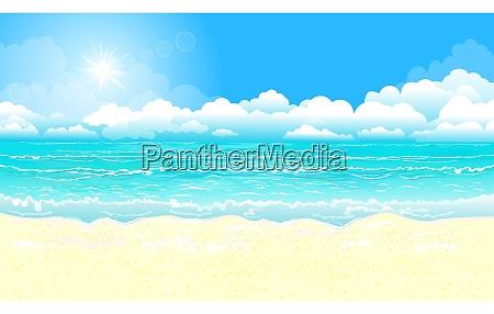 ozean und sandstrand