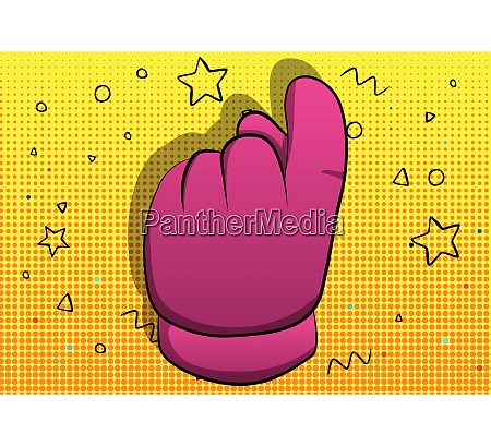 vector cartoon hand showing invitation sign