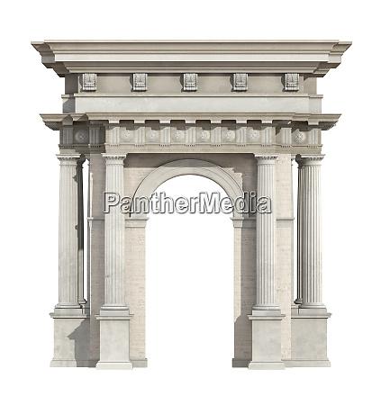 portal im neoklassizistischen stil isoliert auf
