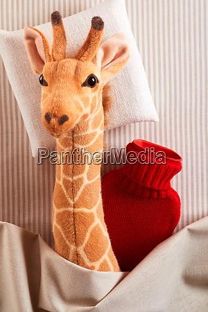 little plush toy giraffe running a