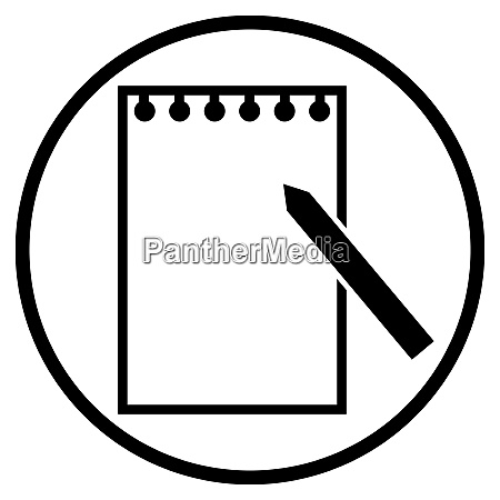 paper and pencil icon in