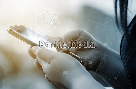 vernetzung von menschen und soziales und