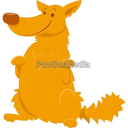 funny yellow shaggy dog cartoon character